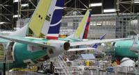 Boeing 737 airplanes are pictured on the company's production line, on March 27, 2019 in Renton, Washington/AFP