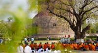 Thai pilgrims gather at Sarnath,where excavations continue./The Nation