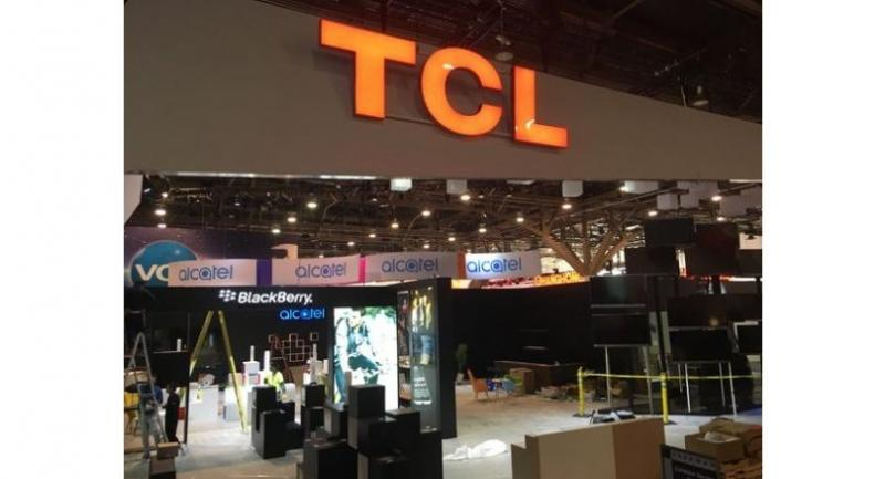 The booth of China's TCL is seen at the International Consumer Electronics Show in Las Vegas. [Photo/chinadaily.com.cn]