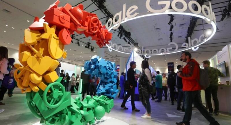 Attendees visit the Google booth at the 2019 GDC Game Developers Conference on March 20, 2019 in San Francisco, California./AFP
