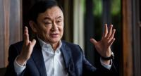 This picture taken on March 25, 2019, shows exiled former Thai prime minister Thaksin Shinawatra being interviewed by Agence France-presse in Hong Kong. /AFP