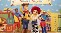 "The characters from ""Toy Story"" will be cooling off summer visitors with splashes of water during the annual parades starting on June 26."
