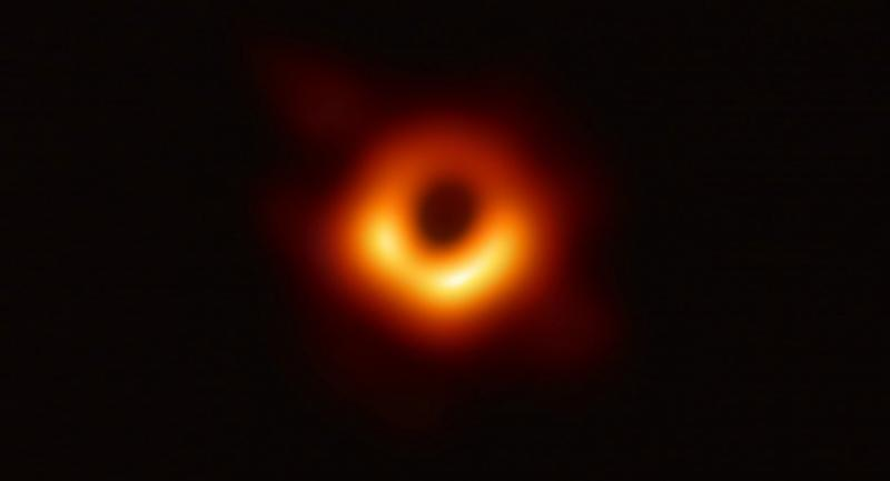 The Event Horizon Telescope provides the first ever photograph of a black hole and its fiery halo. Photo/European Southeastern OBservatory/AFP