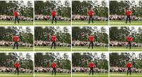 Tiger Woods of the United States celebrates after making his putt on the 18th green to win the Masters at Augusta National Golf Club on April 14, 2019 in Augusta, Georgia.//AFP