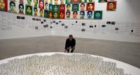 Ai Weiwei unveils the portraits of the 43 missing Mexican students of Ayotzinapa made with one million Lego pieces. /AFP