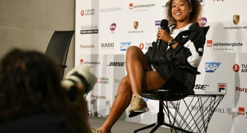 Naomi Osaka gives a press conference on April 23, 2019 at the WTA Tennis Grand Prix in Stuttgart, southwestern Germany.  / AFP