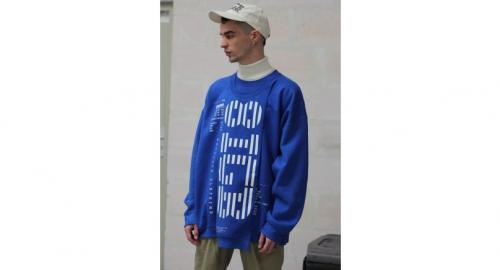 A blue 8IGB sweater, Bt4,900