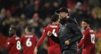 Liverpool's German manager Jurgen Klopp gestures at the final.