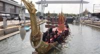 The Royal Thai Navy prepares the Royal Barges for this weekend's coronation ceremonies. Nation/Anan Chantarasoot