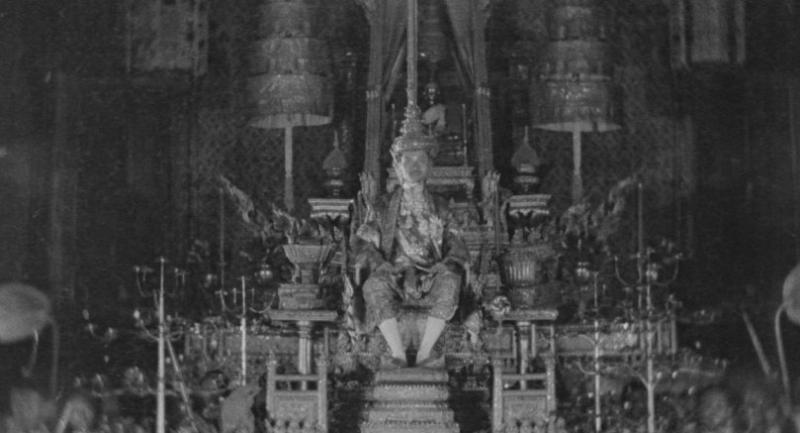 Scenes from the Coronation Ceremony of King Rama VII in 1925, which was filmed for the first time and has become treasured evidence. /Photo courtesy of Thai Film Archive