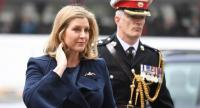 Britain's Defence minister Penny Mordaunt arrives at Westminster Abbey to attend a service to recognise fifty years of continuous at sea deterrent in London on May 3.//AFP