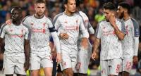 Liverpool's  Fabinho, Sadio Mane,   Jordan Henderson, Virgil van Dijk,  Roberto Firmino and Joe Gomez . / AFP