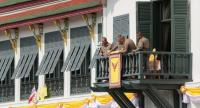 Palace officials prepare balcony of Suddhaisavarya Prasad Hall in the Grand Palace where HM the King will grant  a public audience ะน receive the good wishes of the people.//Photo by Wanchai Kraisornkhajit