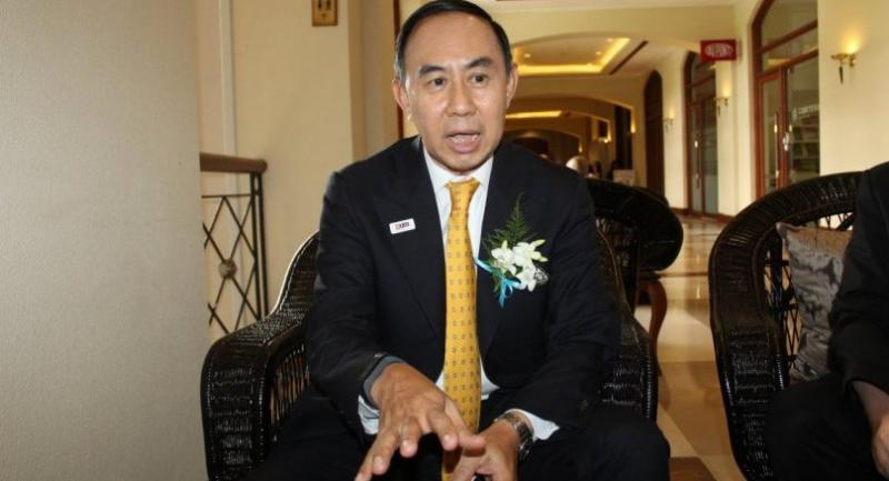 Pisit Serewiwattana, president of Export-Import Bank of Thailand, at an exclusive interview in Yangon on May 9 (Photo-Khine Kyaw, The Nation)