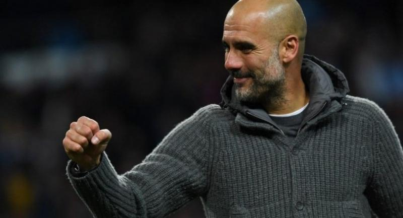 Manchester City's Spanish manager Pep Guardiol.