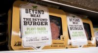 Beyond Meat's plant-based products on a store shelf in New York./EPA-EFE