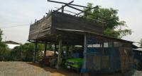 A damaged house in Nakhon Rachasima