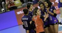 Thailand reacts after winning a point. / FIVB Photo