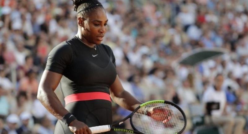Serena Williams at Roland Garros in 2018.