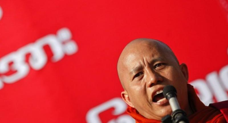 Myanmar nationalist Buddhist monk Wirathu.//EPA-EFE