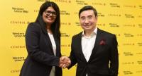 Sohini Rajola, left, regional vice president for South Asia and Indo-China at Western Union, and Montri Sithiyavanich, head of financial services at Central Group, express their confidence on the outlook for the new services.
