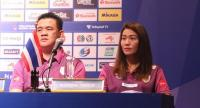 Thailand coach Danai Sriwacharamaytakul and captain Nootsara Tomkom