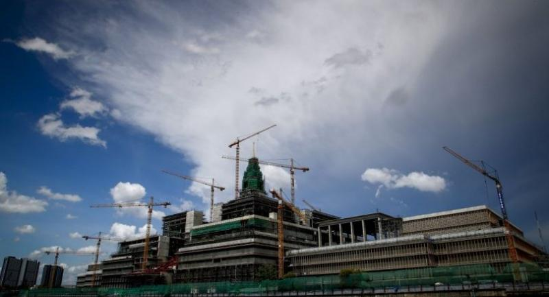 Thailand's 424,000-square-metre parliament building is currently over budget and behind schedule. Photo/EPA