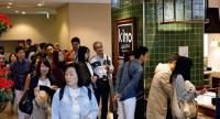 Film buffs crowd the lobby of the Kino Cinema Yokohama Minatomirai cinema complex. /Japan NewsYomiuri