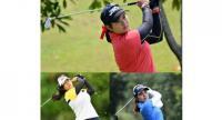 TRIO pic in sport: Chonlada Chayanun, top, Arpichaya Yubol, below left, and Parinda Phokan right.