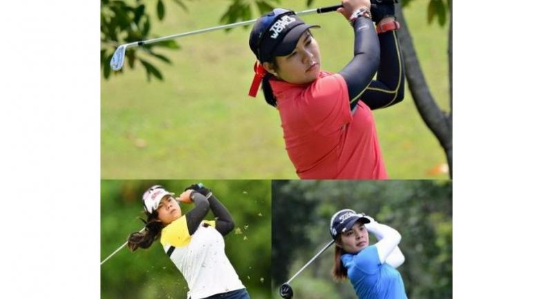TRIO pic in sport: Chonlada Chayanun, top, Arpichaya Yubol, below left, and Parinda Phokan right.