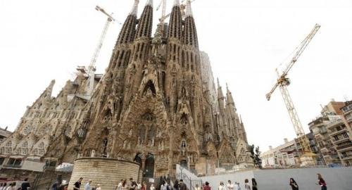 Visionary architect Antoni Gaudi requested a building permit for his Sagrada Familia basilica more than 137 years ago. He got one last week. /AFP