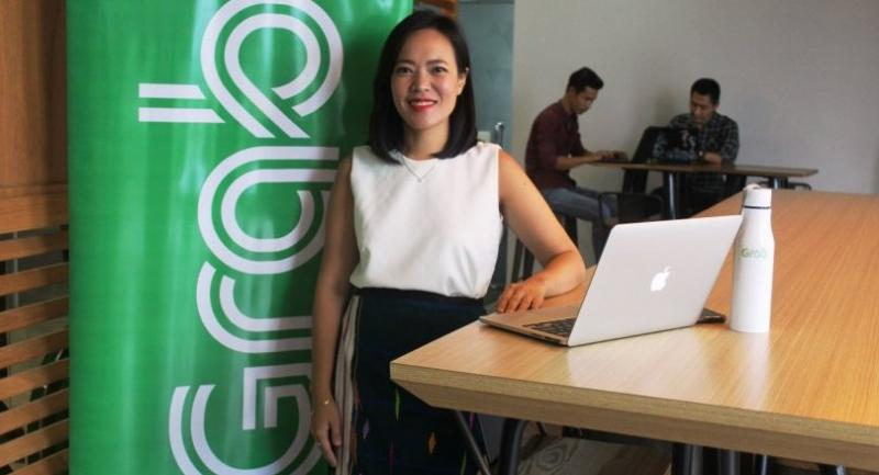 Cindy Toh, Grab's country head for Myanmar, at the firm's office in Yangon.
