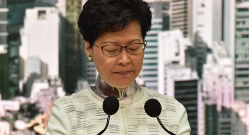File photo : Hong Kong leader Carrie Lam//AFP
