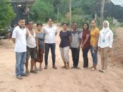 Narissara Muangklang (red shirt, third from right) who will hear the Appeals Court verdict on her fate over the national park encroachment allegation on Wednesday (July 3) on Monday poses for camera with local villagers in Chaiyaphum along with the representatives of the United Nations OHCHR (Office of the High Commissioner for Human Rights) Southeast Asia Office. Narissara is among the 14 villagers accused of such charges - 11 of whom as of Tuesday were sentenced to varied periods behind bars.
