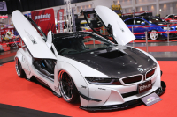 Dresses-up BMW i8 Liberty Walk from Japan is the star of this year's show.