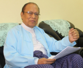 Win Mra, chairman of Myanmar National Human Rights Commission, explains its work during an exclusive interview in Yangon.