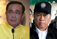 Prayut Chan-o-cha, left, and Anupong Paochinda