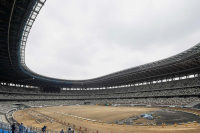 Construction of the Olympic Stadium will be completed in November.