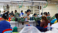 Garment workers in the Sihanoukville Special Economic Zone. Photo by:  The Phnom Penh Post