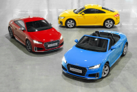 Three Audi TT models are being shown at Emquartier Bangkok from today to July 21.
