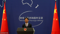 Foreign Ministry spokesman Geng Shuang speaks at a news conference, file photo. [Photo/VCG]