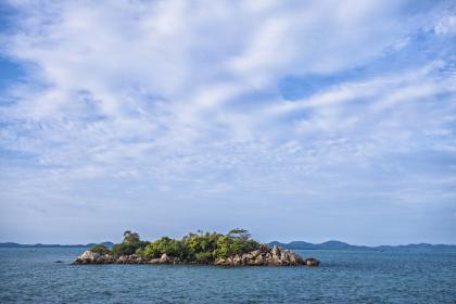 Picturesque Tanjung Kerasak Beach in South Bangka, Bangka Belitung Island regency (Shutterstock/Sony Herdiana)