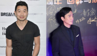 Chinese Canadian actor Simu Liu, left and Hong Kong actor Tony Leung Chiu-wai, right. / Chinadaily.com.cn photo