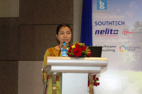 Phyu Yamin Myat, general secretary of Myanmar Microfinance Association, at the Microfinance Success Asia event in Yangon on July 23 (Photo- Khine Kyaw, The Nation)
