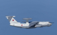 A Russian warplane A-50 (Photo credit: Yonhap)