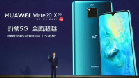 He Gang, who presides over Huawei mobile phone business, introduces Huawei's first commercial 5G mobile phone Mate 20X (5G) in Shenzhen, South China's Guangdong province, July 26, 2019. (PHOTO / IC)
