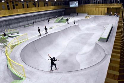 The Murakami City Skate Park, which opened this spring./ The Yomiuri Shimbun photo