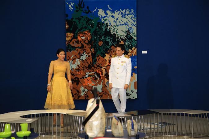 Her Royal Highness Princess Sirivannavari Narirattana graciously presided over the opening of the exhibition last week. // Nation photo: Rachanon Intharaksa