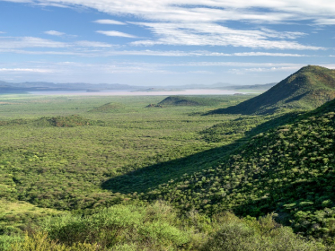 Lake Baringo from the Laikipia escarpment, Kenya.