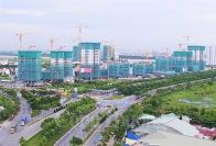 Apartment housing projects in HCM City (Photo: congthuong.vn)